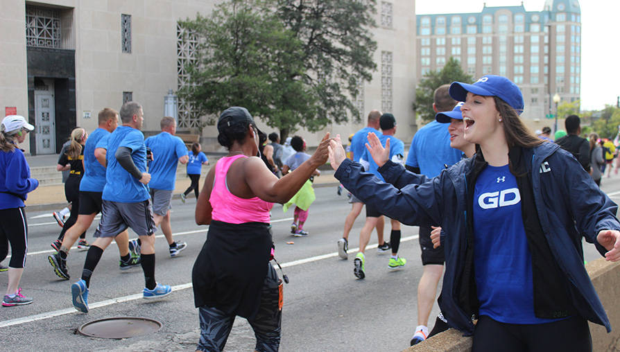 Army Ten Miler High Five