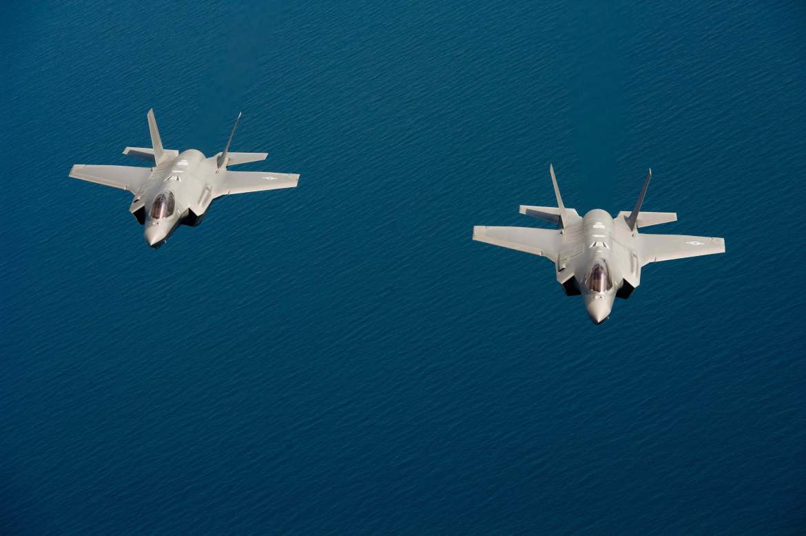 US Air Force - F-35 Flying in Formation