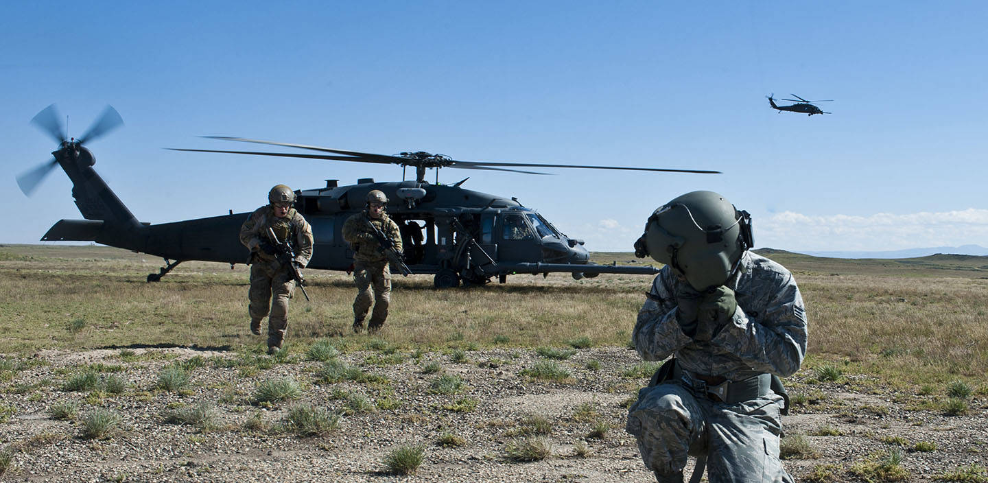 USAF Pararescue finds downed Airman