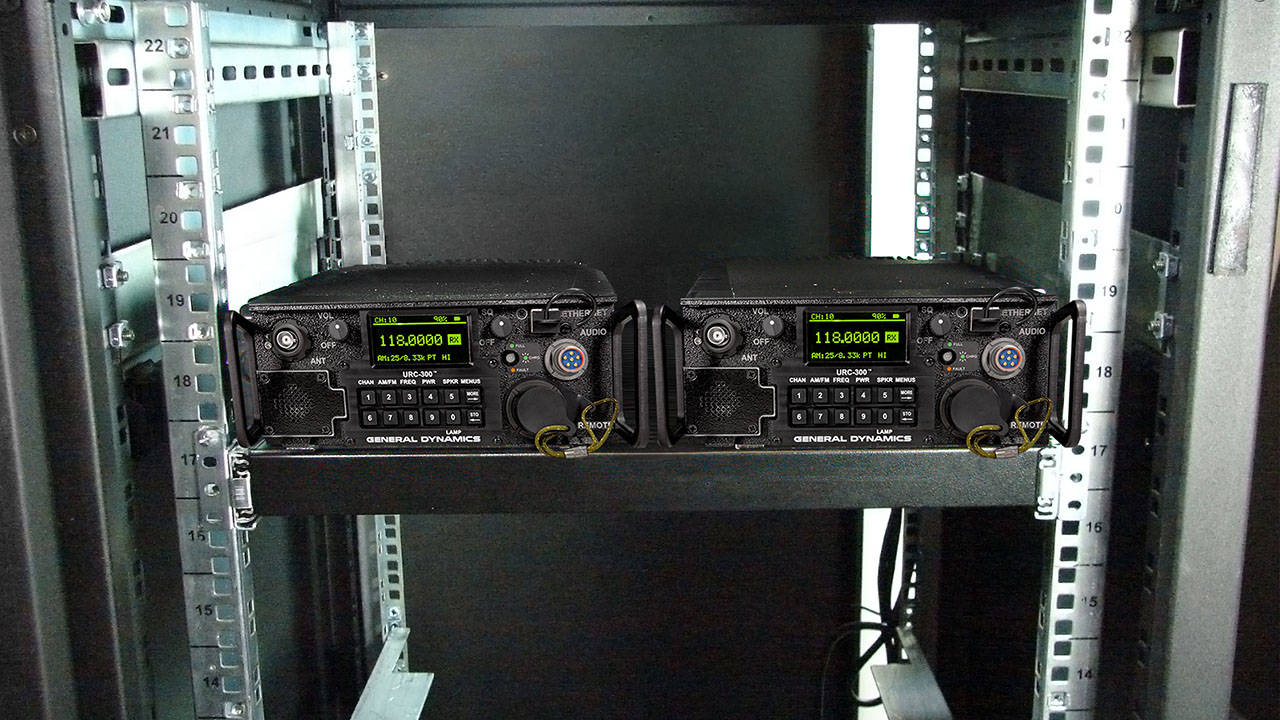 General Dynamics URC-300 Line of Sight Transceiver Rackmount 1