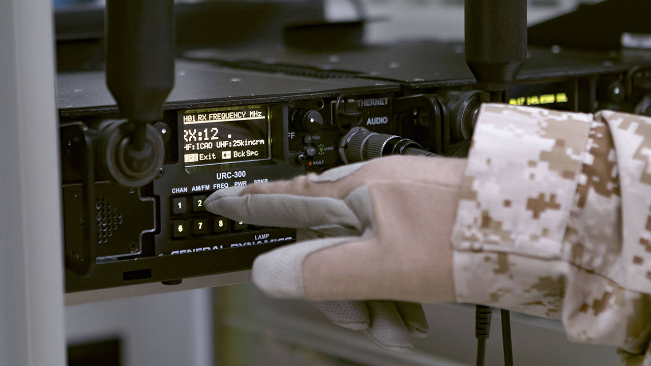 General Dynamics URC-300 Radio Rackmount Operator with Gloves