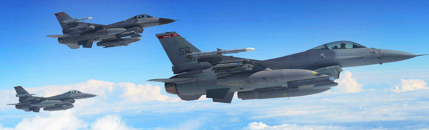 Air Force F-16 Fighters Radomes