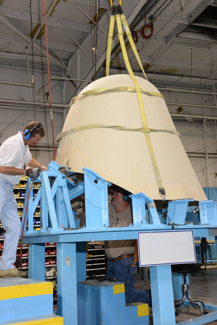 Radome construction in Marion facility