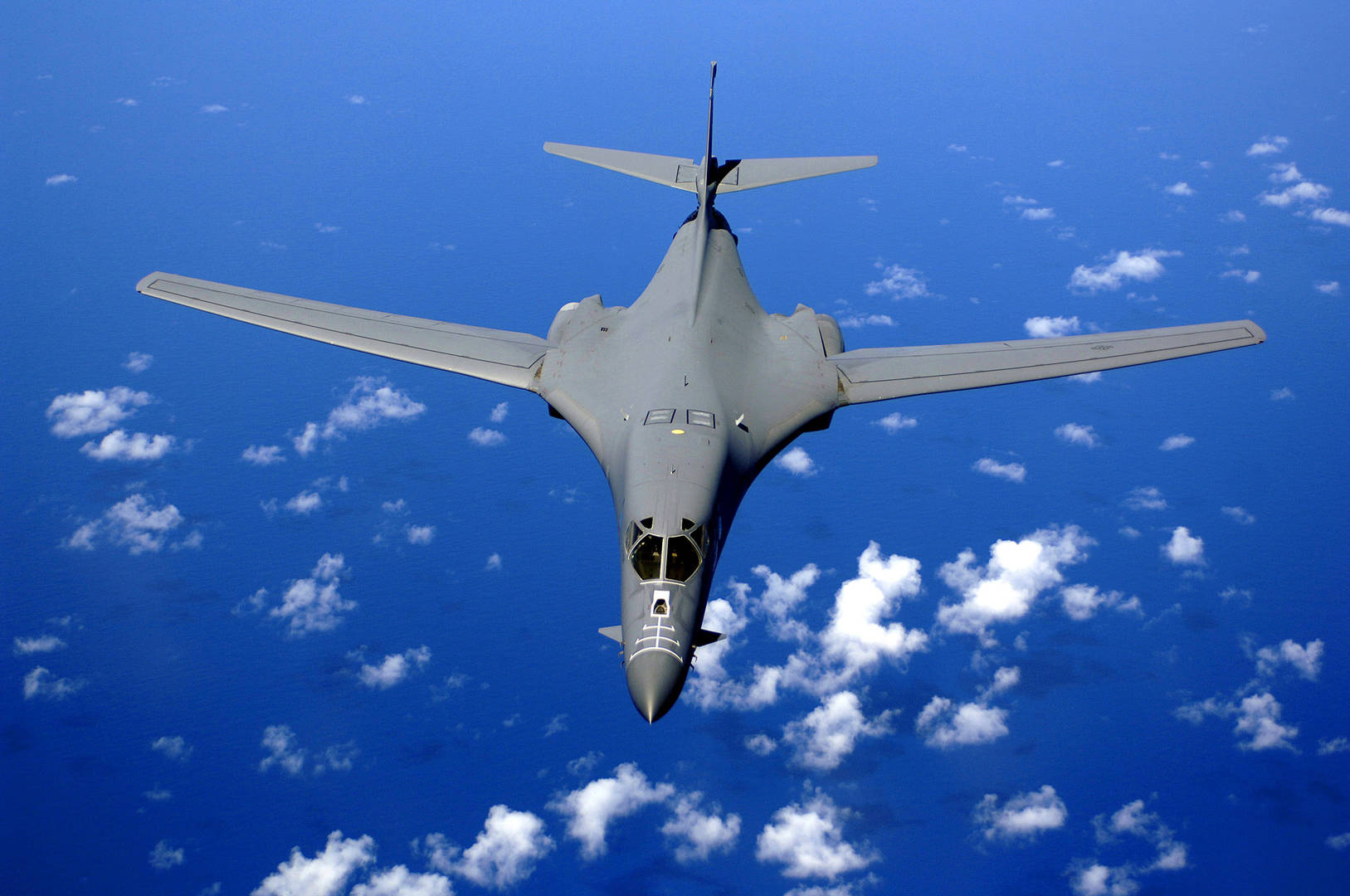 Air Force B-1B Over The Pacific Ocean