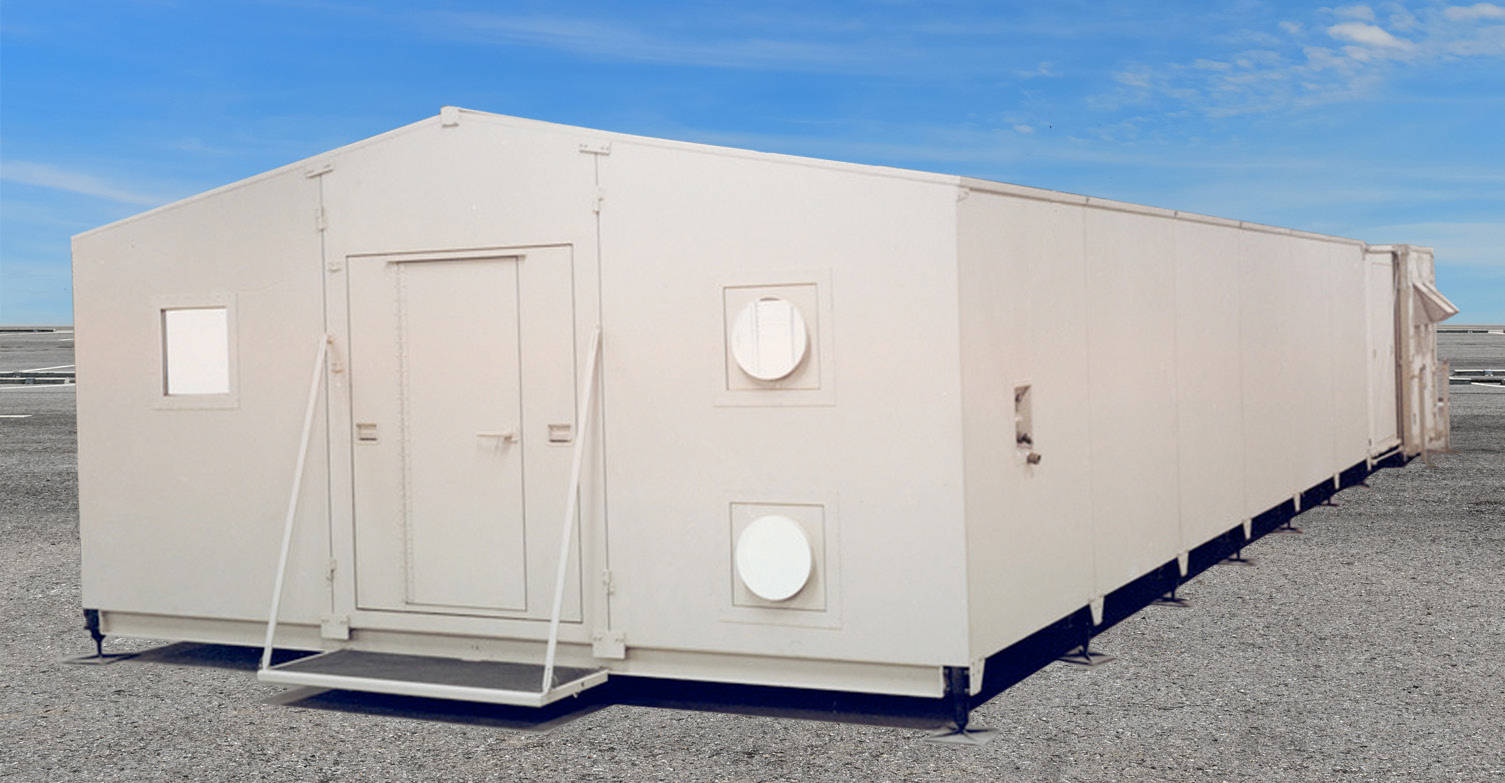 Modular Extendable Rigid Wall Shelter MERWS Outside