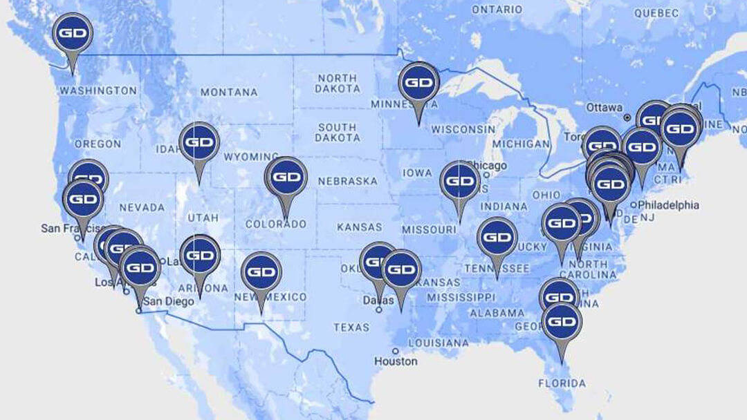 General Dynamics Job Map