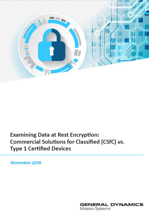 Examining Data at Rest Encryption Whitepaper Cover