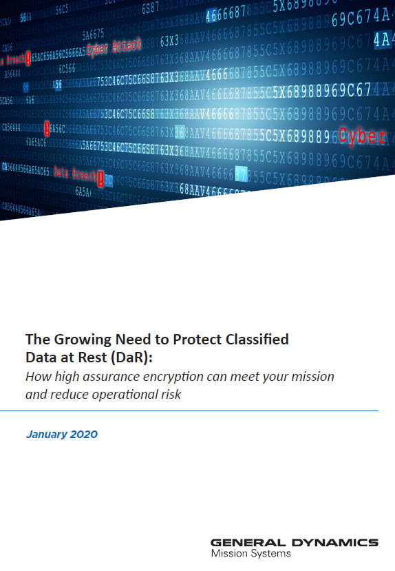 The Growing Need to Protect Classified Data at Rest DAR Whitepaper Cover