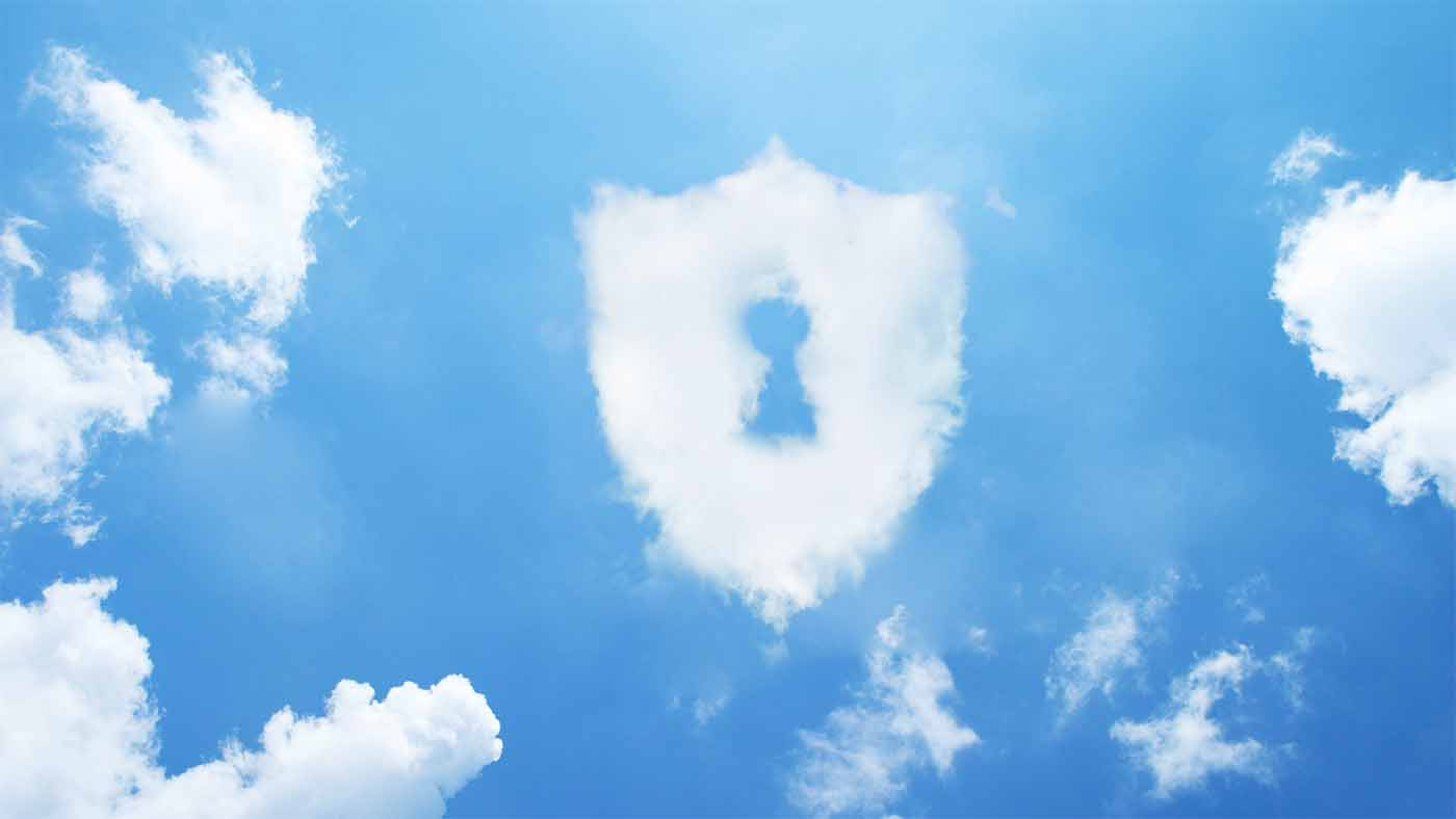 A lock made of a cloud