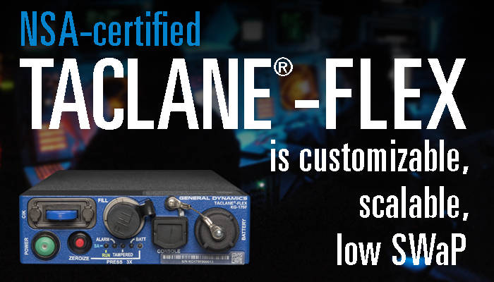 Cyber - Taclane FLEX - NSA Certified Graphic