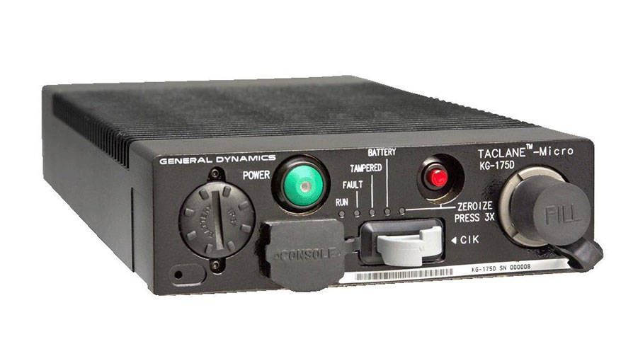 Cyber and Electronic Warfare Systems - TACLANE-Micro (KG-175D) Encryptor Front - Image