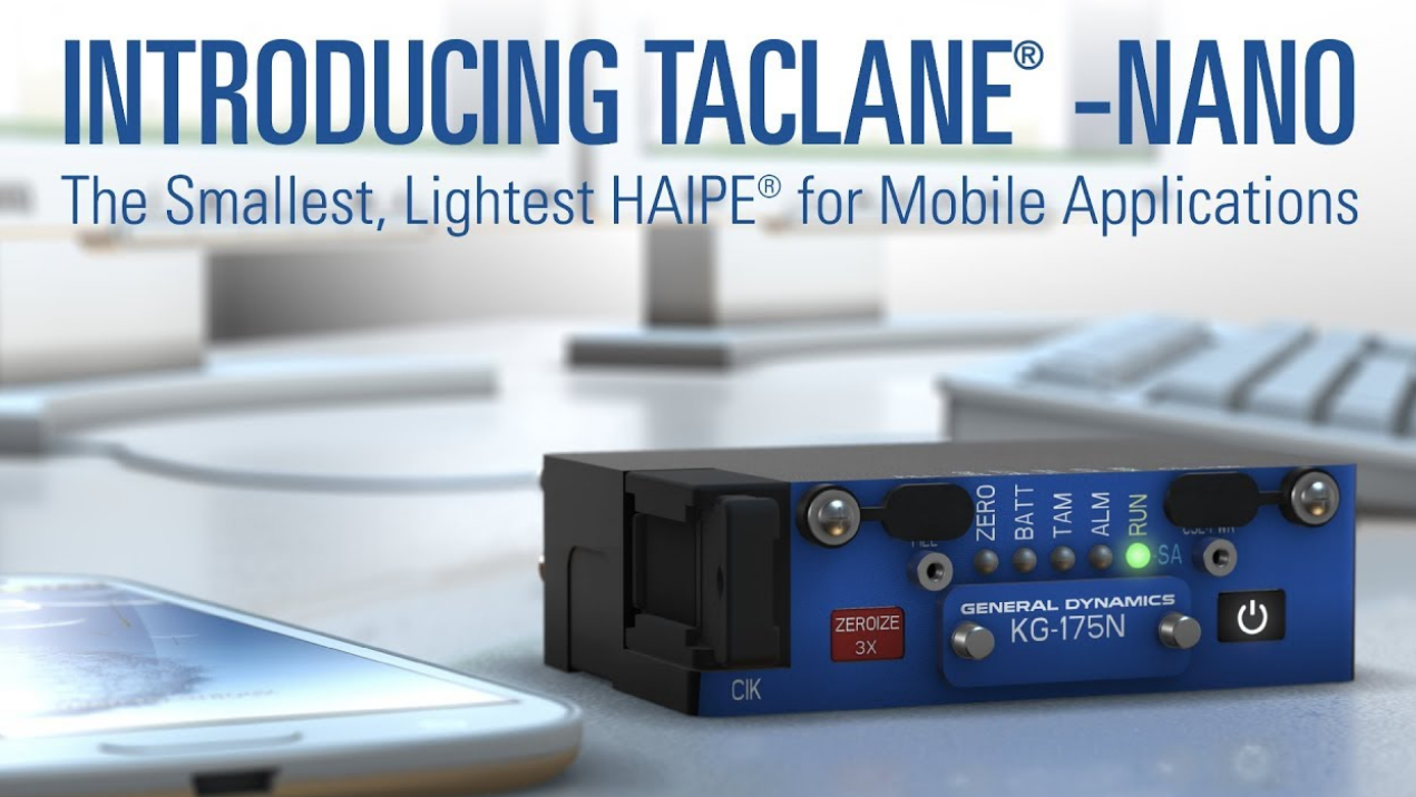 Secure Mobile Classified Encryptor TACLANE Nano KG 175N