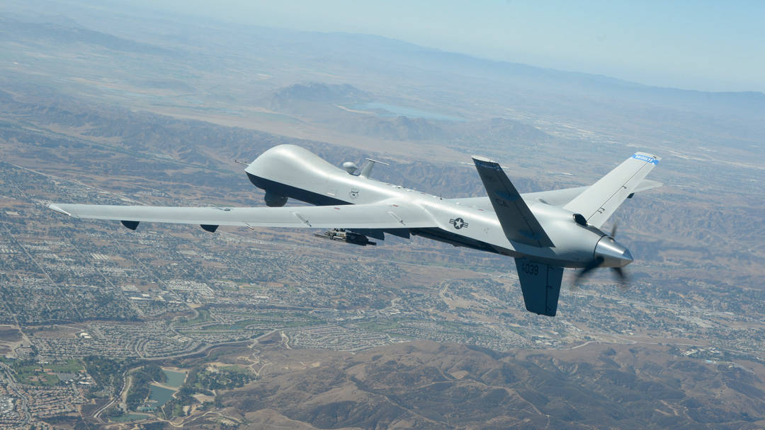 MQ-9 Reaper Using SATCOM on the Move
