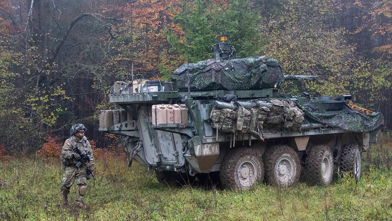 US Army Stryker Vehicle 2nd Cavalry Regiment Germany 4