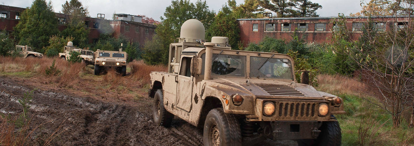 GD SATCOM On-The-Move Antennas on WIN-T equipped vehicles