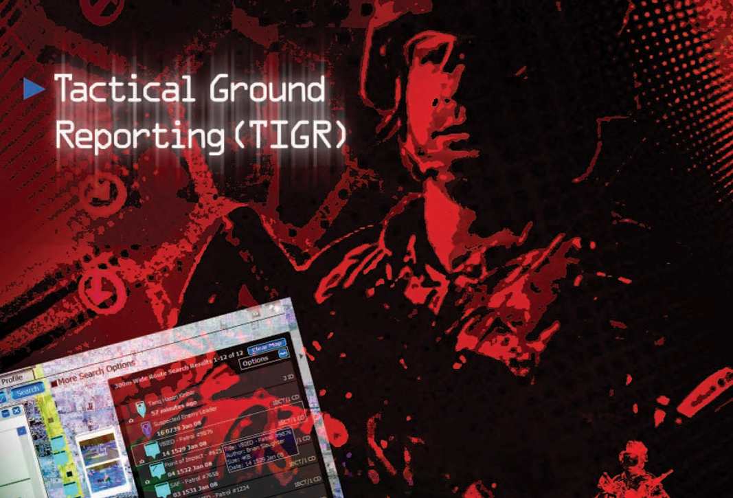 C4ISR - Tactical Ground Reporting System (TIGR) PSTS Page - Image
