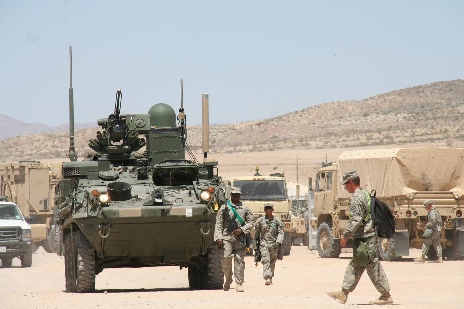 Warfighter Information Network-Tactical (WIN-T) Increment 2 integrated onto Stryker vehicles,