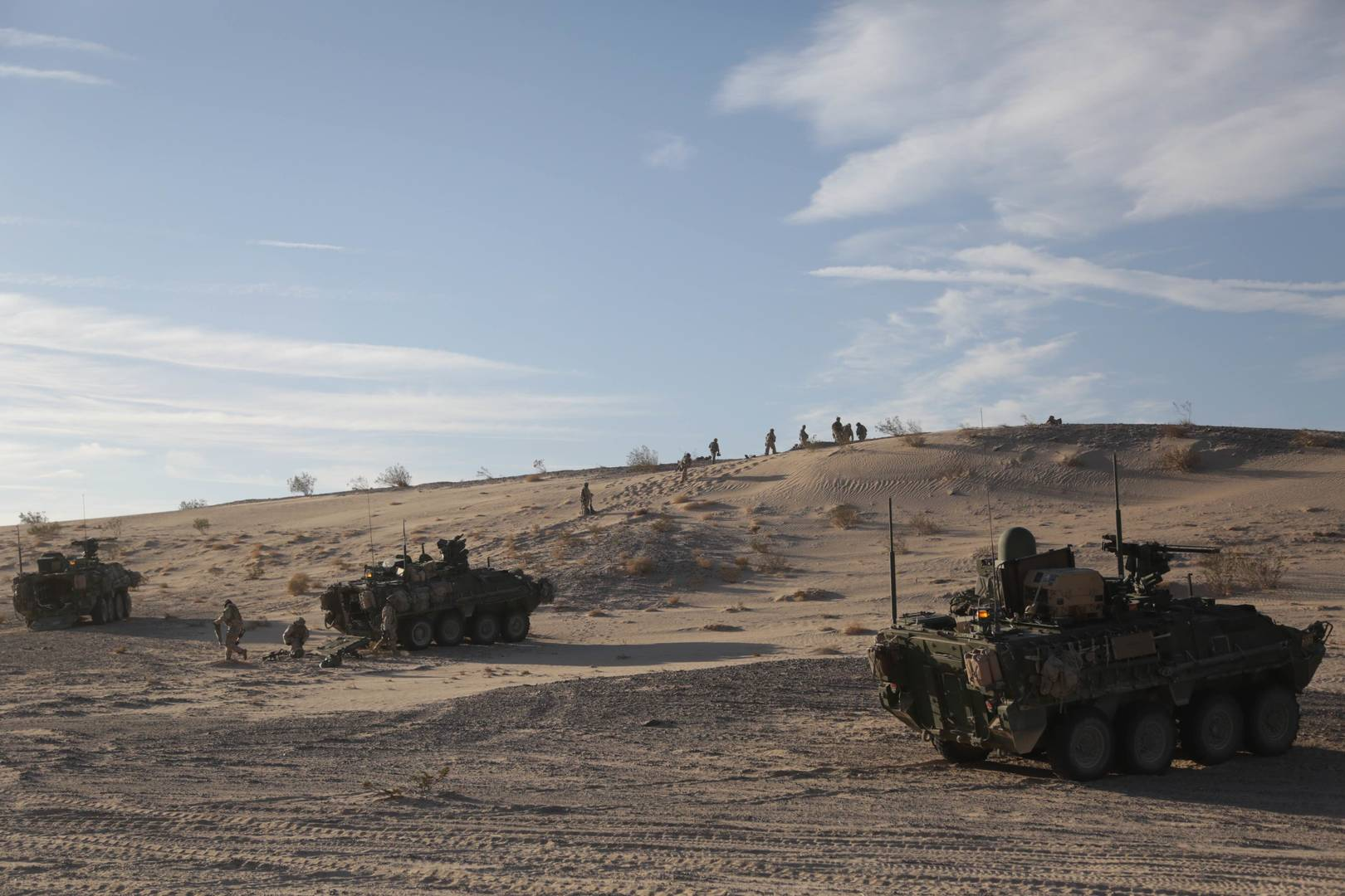 WIN-T Increment 2 Strykers with Soldiers From 1st Armored Division