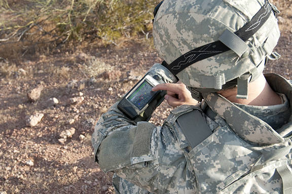 LTE - Soldier using product
