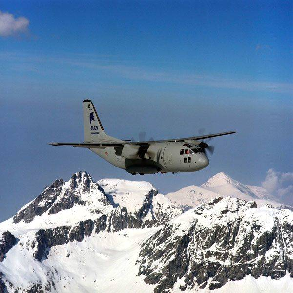 C27J over mountain