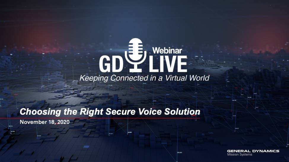 Webinar: Choosing the Right Secure Voice Solution Cover Photo
