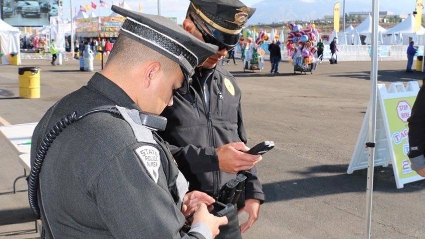 Officers using GD Public Safety Network at New Mexico Balloon Fiesta