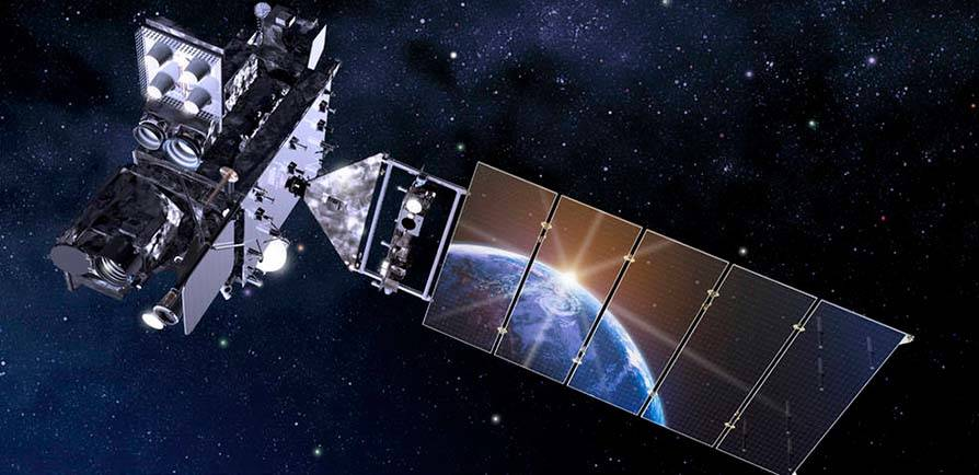 GOES-R Satellite Earth Reflection - Grid Item 4